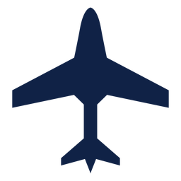 Silueta de vista superior de aviones de transporte