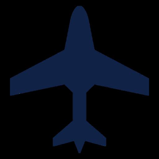 Silueta de vista superior de aviones de transporte Transparent PNG