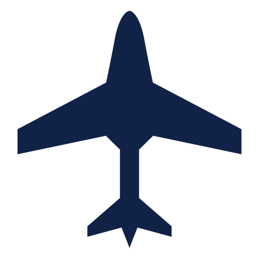 Transport aircraft top view silhouette Transparent PNG
