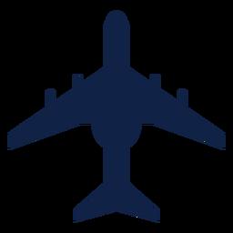Silhueta de vista superior de avião de transporte