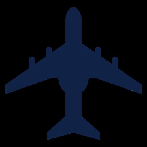 Silueta de vista superior de avión de transporte Transparent PNG