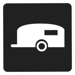 Reiseanhänger-Quadrat-Symbol