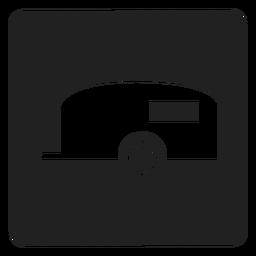 Viagem, reboque, quadrado, ícone