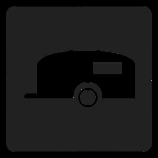 Viagem, reboque, quadrado, ícone Transparent PNG