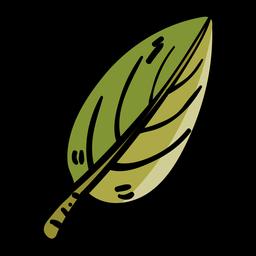 Icono de caricatura de hoja de árbol