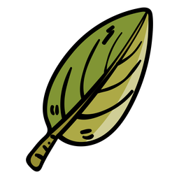Tree leaf cartoon icon