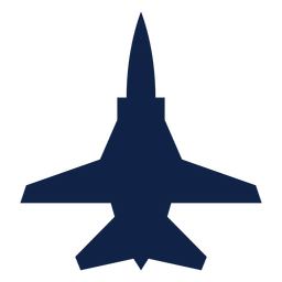 Tu 22m airplane top view silhouette