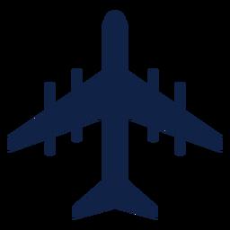 Tu 95 airplane top view silhouette