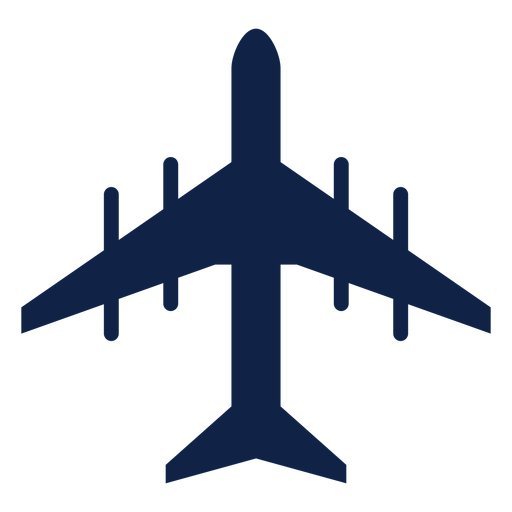 Tu 95 airplane top view silhouette Transparent PNG