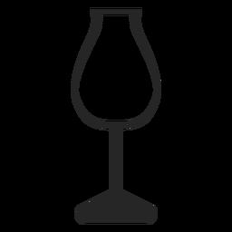 Copa de vino de tulipán icono plana