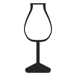 Tulpe Weinglas flach Symbol