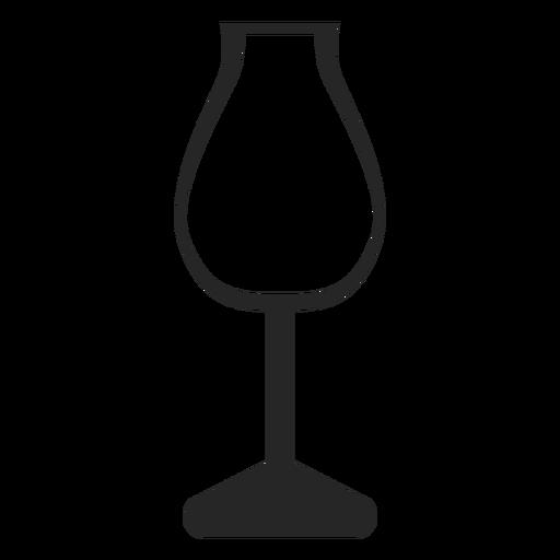 Copa de vino de tulipán icono plana Transparent PNG