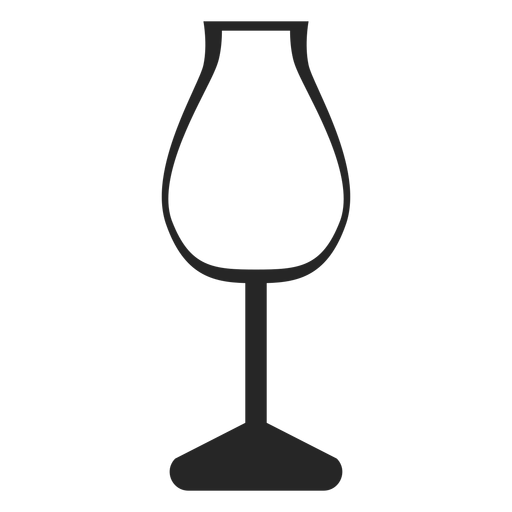 Tulip wine glass flat icon Transparent PNG