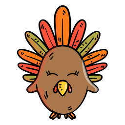 Turkey cartoon icon