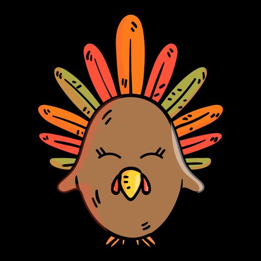 Icono de dibujos animados de pavo Transparent PNG