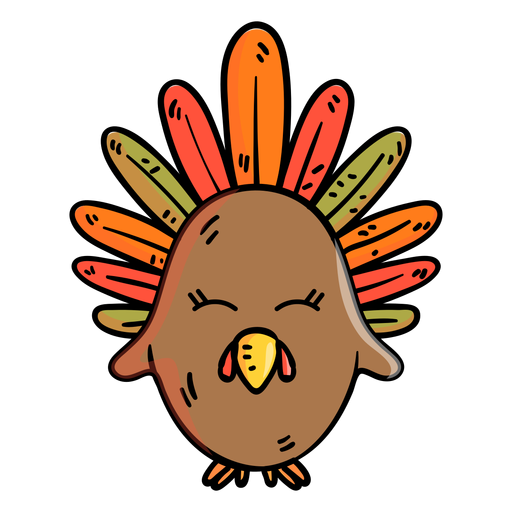 Icono de dibujos animados de pavo