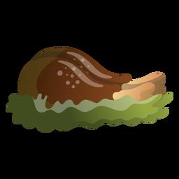 Ilustração de baquetas de peru