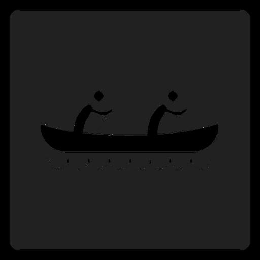 Icono cuadrado de kayak para dos personas Transparent PNG