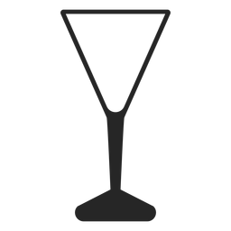 Icono plano de vidrio en forma de V