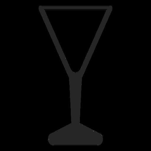 Icono plano de vidrio en forma de V Transparent PNG