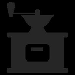 Icono plano de molinillo de café vintage
