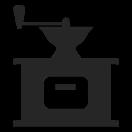 Ícone plana de moedor de café vintage Transparent PNG