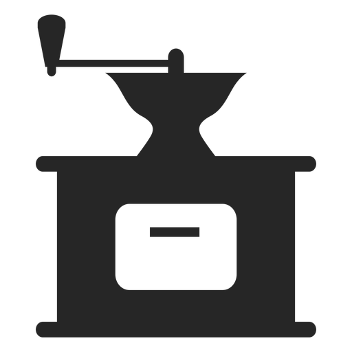 Icono plano de molinillo de café vintage Transparent PNG