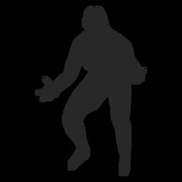 Volleyball-Einstellung Position Silhouette