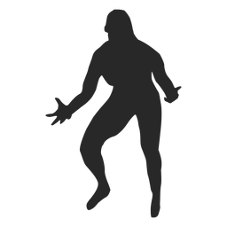 Volleyball setting position silhouette
