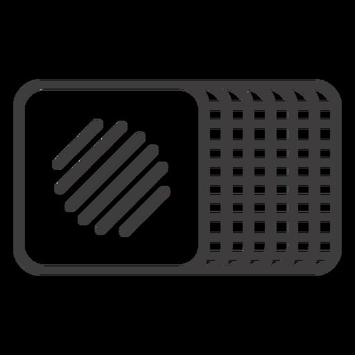 Icono de comida de trazo de galleta Transparent PNG
