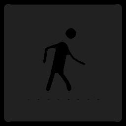 Caminando en el icono de la plaza del agua