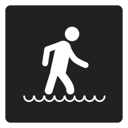 Walking in the water square icon