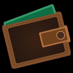 Ícono de billetera iconos de viaje