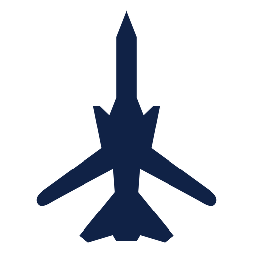 Warplane top view silhouette Transparent PNG