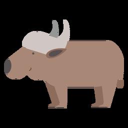 Ilustración de búfalo de agua