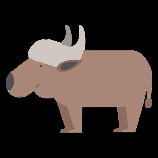 Ilustración de búfalo de agua Transparent PNG