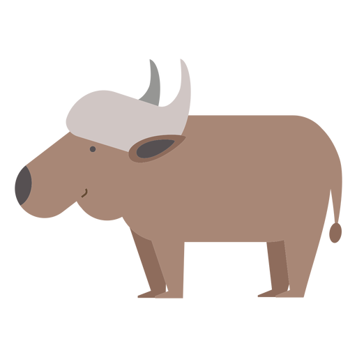 Water buffalo illustration Transparent PNG