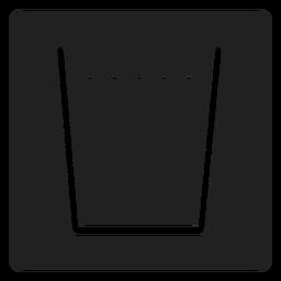 Agua en un icono cuadrado de vidrio
