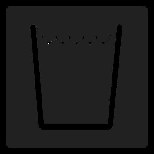 Wasser in einer quadratischen Glasikone Transparent PNG