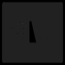 Ícone quadrado de nível de água