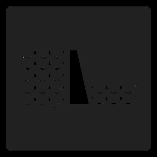 Wasserstand Quadrat Symbol Transparent PNG