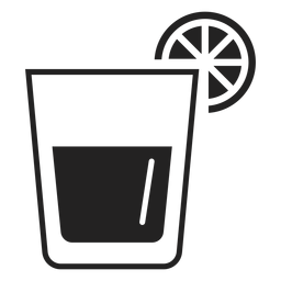 Whiskey saures Cocktail flach Symbol