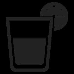 Whisky sour cocktail icon plana