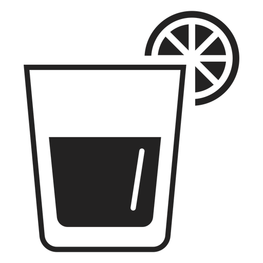 Whiskey sour cocktail flat icon Transparent PNG