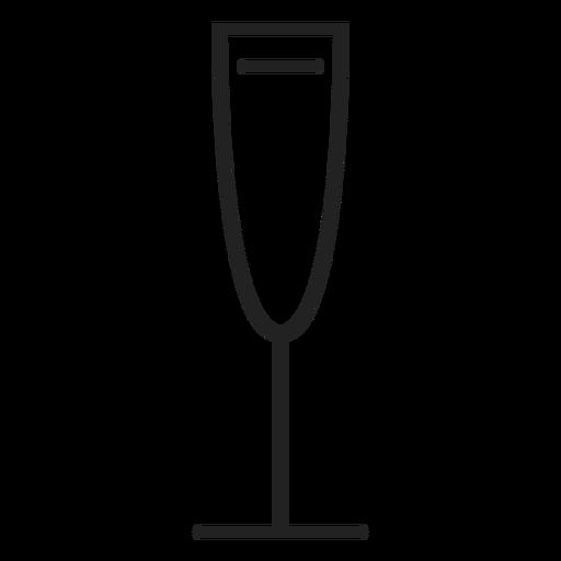 Ícone de copo de vinho branco Transparent PNG