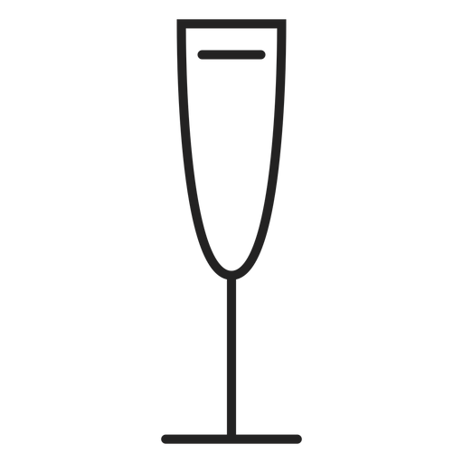 Icono de copa de vino blanco Transparent PNG