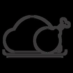 Gebratenes Hähnchen-Symbol
