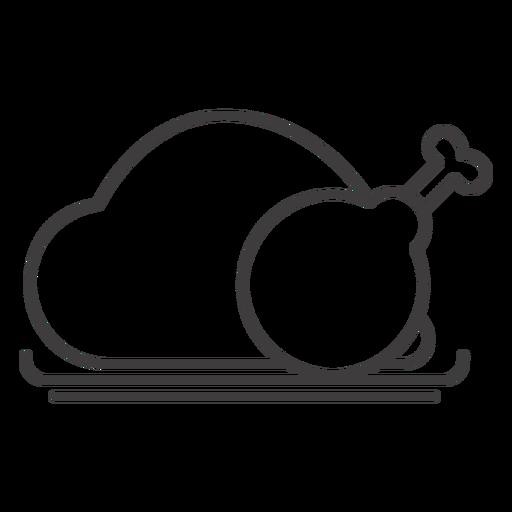 Gebratenes Hähnchen-Symbol Transparent PNG