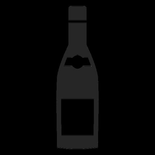 Icono plano de botella de vino