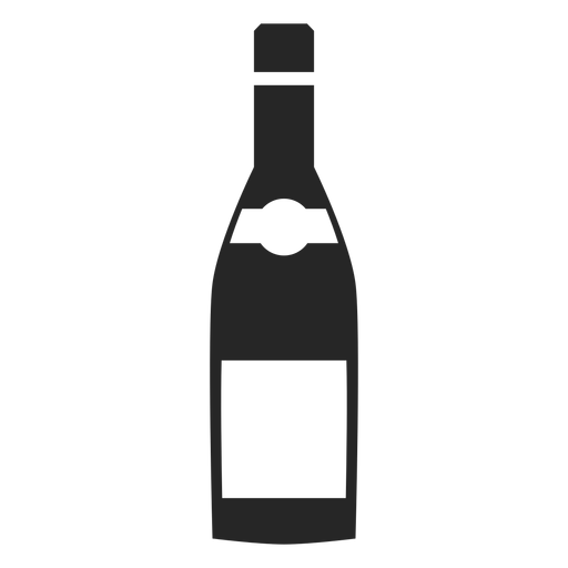 Wine bottle flat icon Transparent PNG